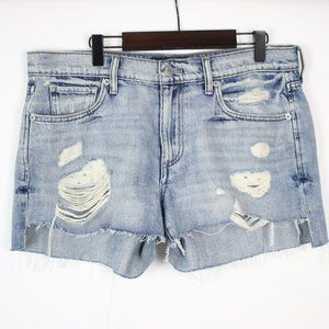 LUCKY BRAND Distressed Boyfriend Cut-Off Shorts 4